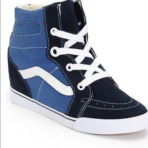 Vans Women's SK8-Hi Hidden Wedge Heel Sneaker.